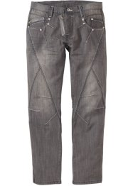 Jean droit, RAINBOW, medium gris denim used