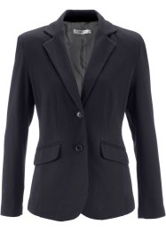 Blazer en jersey, bpc bonprix collection, noir