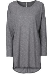 T-shirt long effet chiné, RAINBOW, gris multi