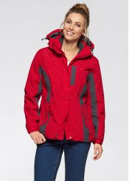 Veste outdoor fonctionnelle 3 en 1, bpc bonprix collection, rouge/anthracite