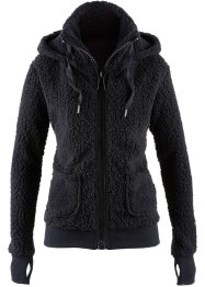 Veste en polaire peluche, bpc bonprix collection, noir