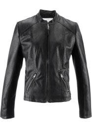 Veste synthétique imitation cuir, bpc bonprix collection, noir