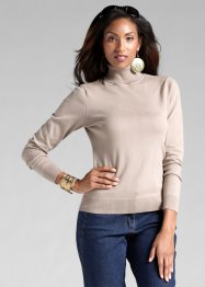 Pull col roulé, bpc selection, taupe