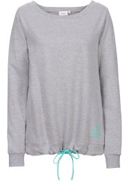 Sweat-shirt, John Baner JEANSWEAR, gris clair chiné