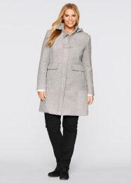 Manteau, bpc bonprix collection, gris clair chiné