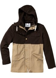 Veste mi-saison Regular Fit, bpc bonprix collection, marron foncé/beige