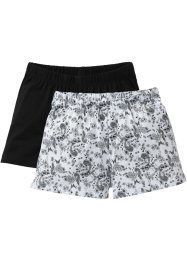 Lot de 2 shorts, bpc bonprix collection, imprimé/noir