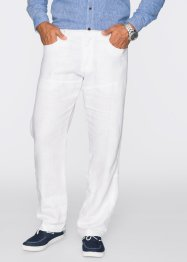 Pantalon en lin Regular Fit Straight, bpc selection, blanc