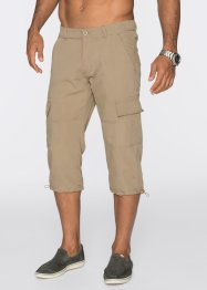 Pantalon cargo 3/4 Loose Fit, bpc bonprix collection, beige