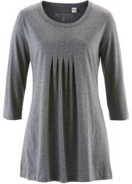 T-shirt long manches 3/4, bpc selection, gris chiné