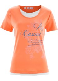 T-shirt 2en1 manches courtes, bpc bonprix collection