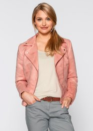 Veste en synthétique imitation cuir velours, bpc bonprix collection, corail clair
