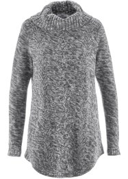 Pull poncho manches longues, bpc bonprix collection, anthracite chiné