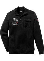 Pull camionneur Regular Fit, bpc bonprix collection, noir