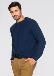 Pull Regular Fit, bpc bonprix collection, bleu foncé