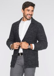 Blazer en maille Regular Fit., bpc bonprix collection, gris foncé chiné