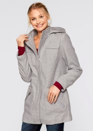 Veste aspect laine, bpc bonprix collection, gris clair chiné