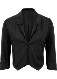 Blazer sweat court, BODYFLIRT, noir