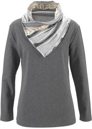 Sweat-shirt, John Baner JEANSWEAR, anthracite chiné
