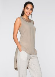 T-shirt court-long, BODYFLIRT, nude