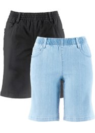 Lot de 2 shorts extensibles, bpc bonprix collection