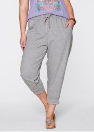 Pantalon sweat 3/4, bpc bonprix collection, gris clair chiné