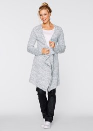 Gilet long en maille, bpc bonprix collection, gris argent