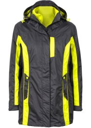 Veste outdoor 3en1, bpc bonprix collection, gris ardoise/vert citron