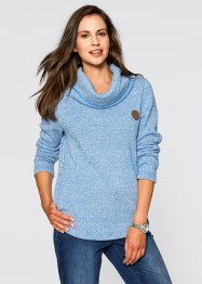 Sweat-shirt, bpc bonprix collection, bleu azur chiné