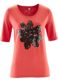 T-shirt, bpc selection, corail/argenté