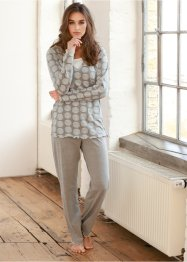 Pyjama, bpc bonprix collection, gris chiné imprimé