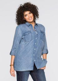 Chemise en jean extra longue, manches longues, John Baner JEANSWEAR