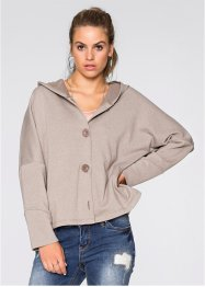 Veste sweat boxy, RAINBOW, taupe clair chiné