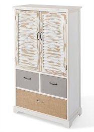 Armoire Kira, bpc living, blanc/naturel
