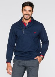 Sweat-shirt à col châle Regular Fit, bpc selection, bleu foncé