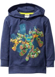 T-shirt à capuche TORTUES NINJA, Teenage Mutant Ninja Turtles, bleu foncé chiné TORTUES NINJA