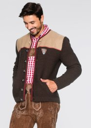 Gilet en maille bavarois Regular Fit, bpc selection, marron chiné
