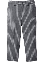 Pantalon à fines rayures, bpc bonprix collection, gris ardoise