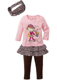 T-shirt, jupe, legging, bandeau fille (Ens. 4 pces.), bpc bonprix collection