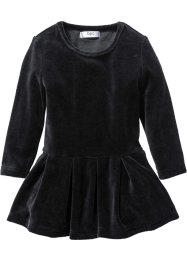 Robe en velours, bpc bonprix collection, noir