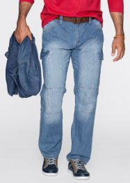 Jean Loose Fit Straight, John Baner JEANSWEAR, bleu moyen used