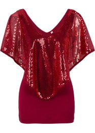 T-shirt avec sequins, BODYFLIRT boutique, rouge