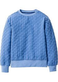 Sweat-shirt à motif petits cœurs, bpc bonprix collection, bleu ciel