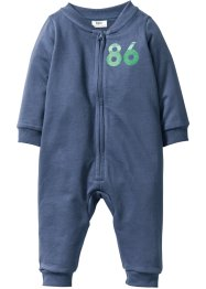 Combinaison sweat-shirt bébé en coton bio, bpc bonprix collection, indigo