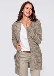 Gilet en maille, bpc bonprix collection, blanc cassé chiné