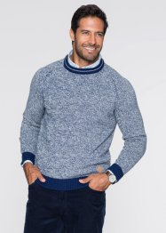 Pull Regular Fit, bpc bonprix collection, bleu chiné
