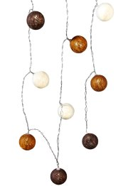 Guirlande lumineuse à LED Cotton Balls, marron, bpc living bonprix collection