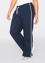 Lot de 2 pantalons de jogging, longs, bpc bonprix collection, bleu foncé/gris clair chiné