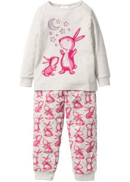 Pyjama (Ens. 2 pces.), bpc bonprix collection, écru chiné/rose