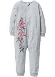 Combipyjama, bpc bonprix collection, gris clair chiné